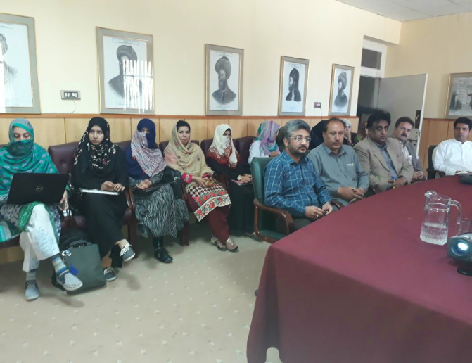 PASTIC Quetta workshop at CASVAB on dated: 15-16 March, 2018