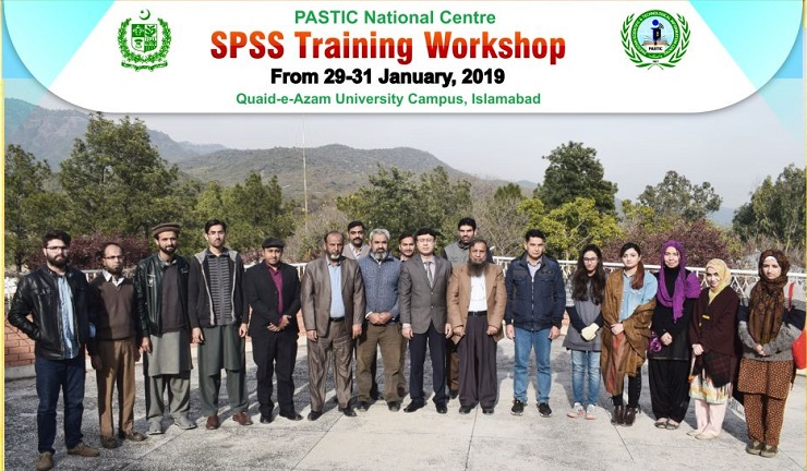 PASTIC National Centre organized three days training workshop on Research Tools & Techniques through SPSS from 29-31 January 2019 at I.T Lab of PASTIC
