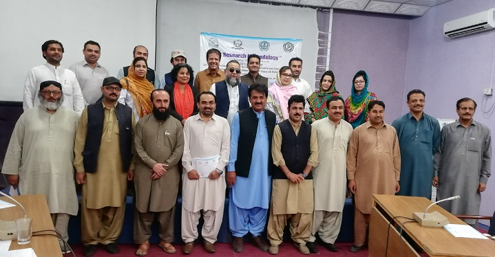 SPSS Training Workshop participents with Chief Guest Prof. Dr. Arshid Pervez, HOD, Environmental Sciences and Mr. Zaheer Nasir, Manager Trainings, PASTIC, Training was held from 24-26th April, 2019 at COMSATS Abbottabad Campus